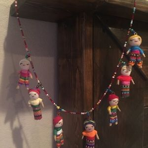 Bohemian Worry doll necklace